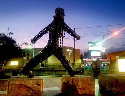Social Mission Photograph - South Pasadena Strut ... The Metro At Dusk by Del Gaizo