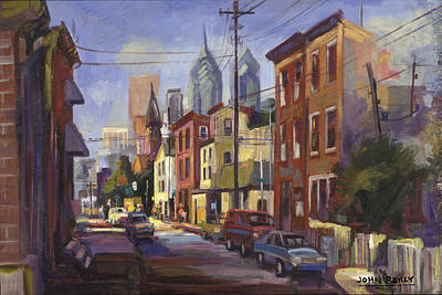 Philadelphia Scene Painting - South Philly by John  Reilly
