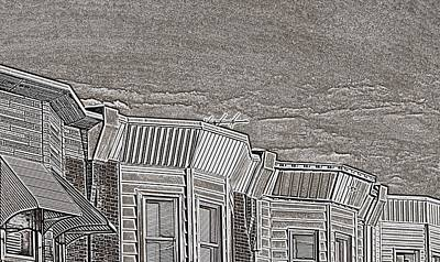 South Philly Digital Art - South Philly Rooftops by John Janette
