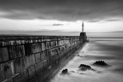 Sea Swell Photograph - South Pier 1 by Dave Bowman
