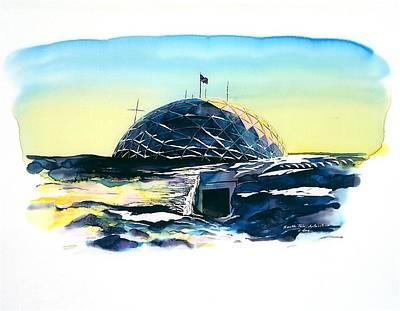 South Pole Dome Antarctica Art Print by Carolyn Doe