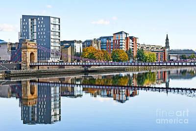 City Digital Art - South Portland Street Bridge by Liz Leyden