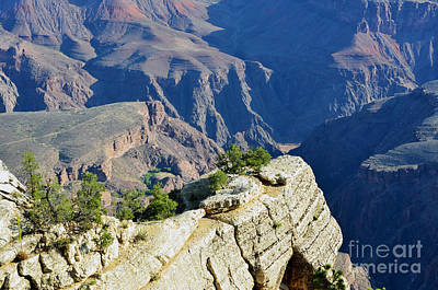 Great Outdoors Photograph - South Rim Cliffside Overlook And Plateau Point Grand Canyon National Park by Shawn O'Brien