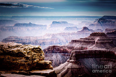 Orange Photograph - South Rim Grand Canyon 147 by Arne Hansen