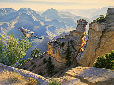 Canyons Painting - South Rim Morning by Paul Krapf