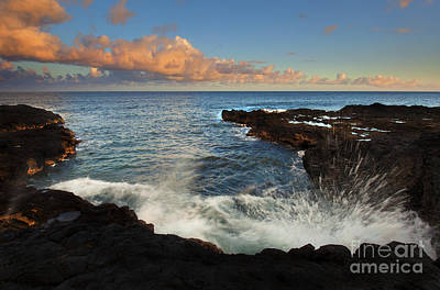 Waves Crashing Photograph - South Shore Spray by Mike  Dawson