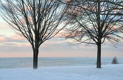 Cottage Photograph - South Shore Winter by Heather Allen