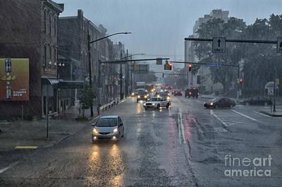 South Side In The Rain Art Print by Thomas R Fletcher