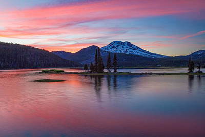 Redmond Photograph - South Sister Highlights by Patricia Davidson