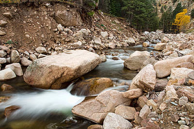 Clouds Rights Managed Images - South St Vrain Canyon Autumn View Royalty-Free Image by James BO Insogna