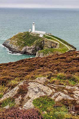 Coastline Digital Art - South Stack Lighthouse by Adrian Evans