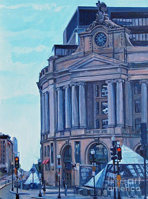 Boston Painting - South Station by Deb Putnam
