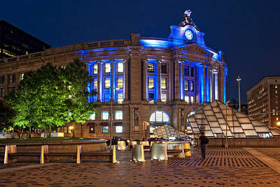 Photograph - South Station In Blue - Boston by Joann Vitali