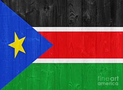 Sudan Red Photograph - South Sudan Flag by Luis Alvarenga