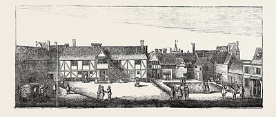 Outlook Drawing - South View Of Arundel House In 1646 London Uk by English School
