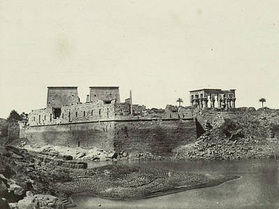 South-west Side Of The Temple Complex Of Philae Art Print