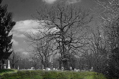 Photograph - South Zanesville Cemetary by David Yocum