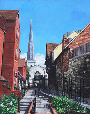 Historical Buildings Painting - Southampton Blue Anchor Lane by Martin Davey
