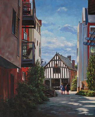 Painting - Southampton Medieval Merchant House From High St by Martin Davey