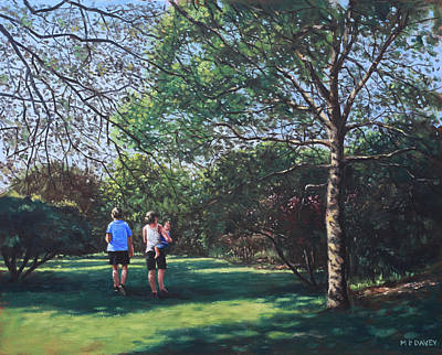 Southampton People In Park Art Print by Martin Davey
