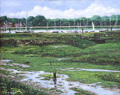 Painting - Southampton River Hamble by Martin Davey