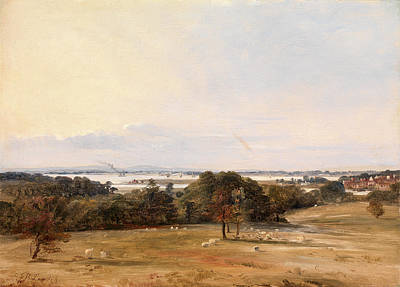 Southampton Water Painting - Southampton Water, Near Hamble Signed In Dark Brown Paint by Litz Collection