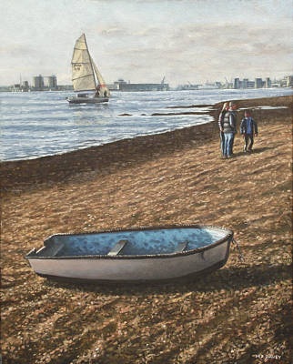 Painting - Southampton Weston Shore by Martin Davey