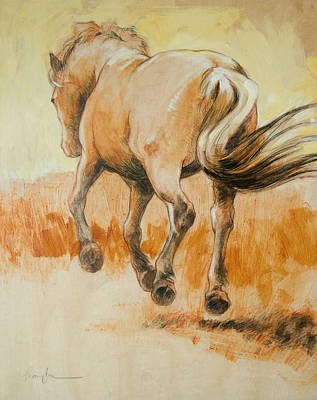Horse Drawings Painting - Southbound by Tracie Thompson