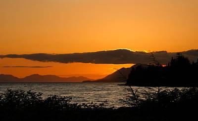 Northwest Photograph - Southeast Alaska Sunset by Michael J Bauer