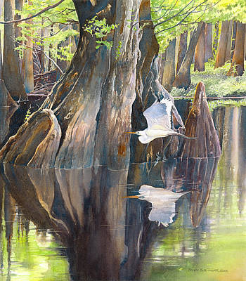 Painting - Southeast Missouri Swamp by Brenda Beck Fisher