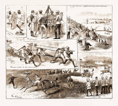 Athletic Drawing - Southern Afghanistan Athletic Meeting At Hurnai by Litz Collection