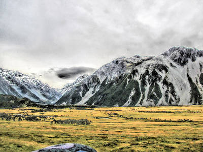 Photograph - Southern Alps Nz by C H Apperson