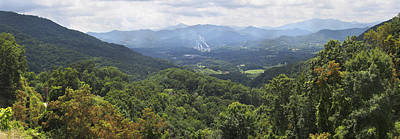 Canton Photograph - Southern Appalachian Mountains - Panoramic by Mike McGlothlen