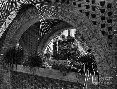 Southern Arches Bw Art Print by Mel Steinhauer
