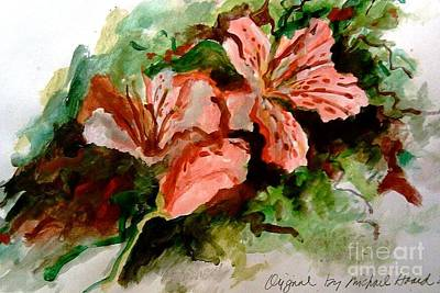 Painting - Southern Azalea In New Orleans by Michael Hoard
