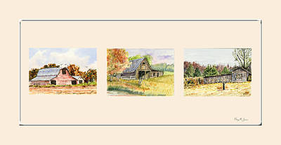 Painting - Farm - Barn - Southern Barns by Barry Jones