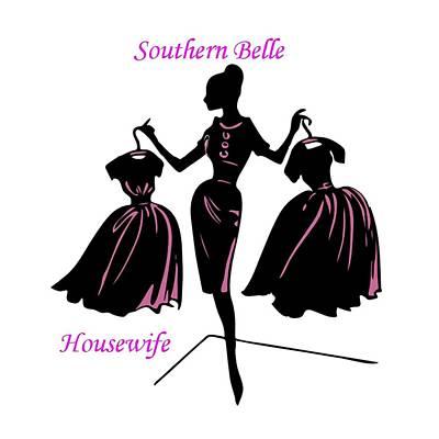Digital Art - Southern Belle by Florene Welebny