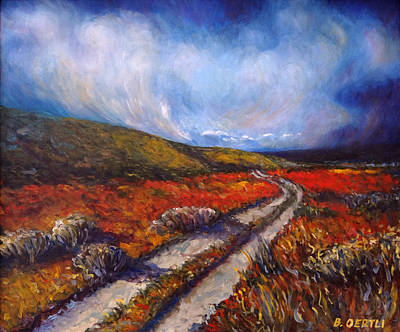 Painting - Southern California Road by Barbara Oertli