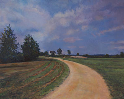Painting - Southern Charles County Landscape by David P Zippi