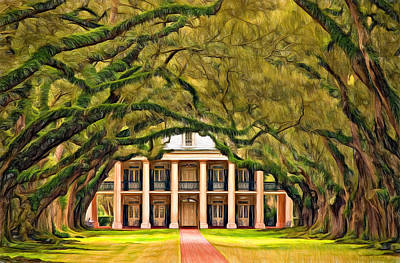 Mansion Digital Art - Southern Class - Paint by Steve Harrington