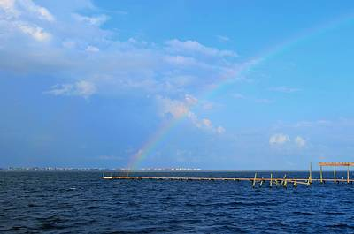 Photograph - Southern End Of Complete Rainbow Over Santa Rosa Sound by Jeff at JSJ Photography