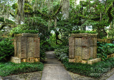 Photograph - Southern Garden Path by Kathy Baccari