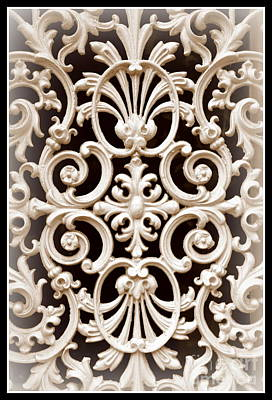 Photograph - Southern Ironwork In Sepia by Carol Groenen