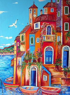 Southern Italy Amalfi Coast Village Art Print