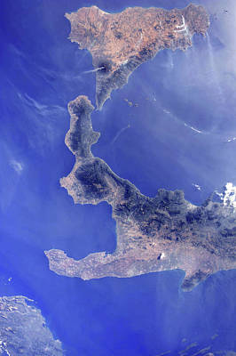 View From Space Photograph - Southern Italy by Nasa