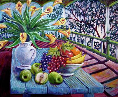 Southern Lillies Art Print