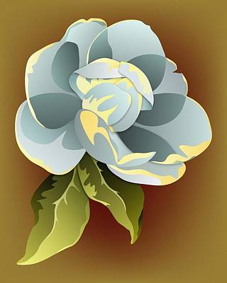 Digital Art - Southern Magnolia Blossom by MM Anderson
