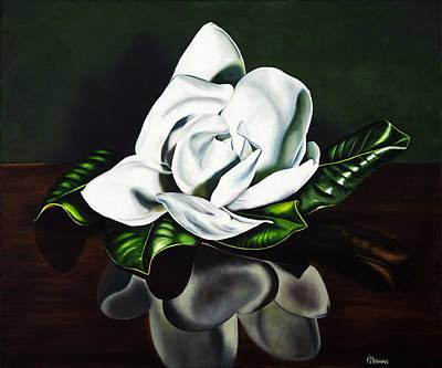 Southern Magnolia Art Print by Kerri Meehan