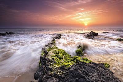 Southern Maui Sunset Art Print by Hawaii  Fine Art Photography