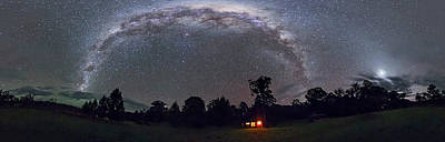 Southern Milky Way Panorama Rectilinear Art Print by Alan Dyer